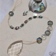 Beaded Suncatcher - Turquoise Tears