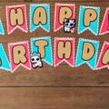 Happy Birthday Banner , LOL Theme Birthday Banner Version 1