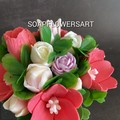 Soaps flowers tulip arrangement , bouquet .