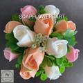 Soaps flowers rose buds arrangement, bouquet.