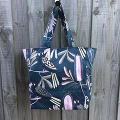 Large Shopping Bag - Black Cockatoo Print
