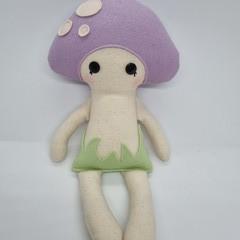 handmade purple mushroom baby doll