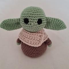 Baby Yoda crochet softie