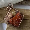 Sacred Web 4 Stone Pendant