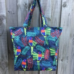 Large Shopping Bag - Rainbow Lorikeet