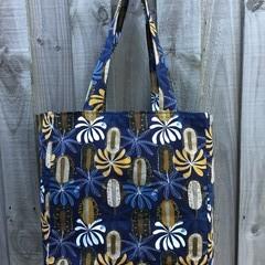 Large Shopping Bag - Banksia Flower Print