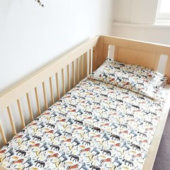 I love Horses Baby Bedding Nursery Cot Quilt Set