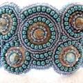 "Beaded Bracelet Cuff ""Circles"""