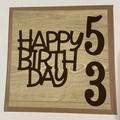 Happy 53rd Birthday Card