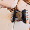 """Bead Embroidered Bracelet Cuff """"Bubbles"""""""