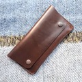 Leather Snap Closure Wallet
