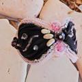 "Bead Embroidered Bracelet ""Angel"""