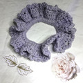 'A Special Scrunchie made with Lavender Sparkly Yarn'