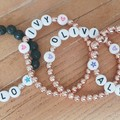 Personalised Name Stretch Bead Bracelet > Heart/Star