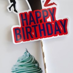 Australian Ninja Warrior Cake topper, Happy Birthday!