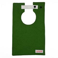Green with Paint Splatter Large Style Bib