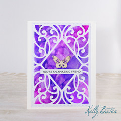 You're An Amazing Friend, Friendship Card, Alcohol Ink Card