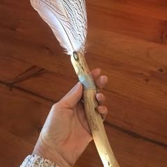 Ceremonial Tool - Smudge Fan/ Talking Stick