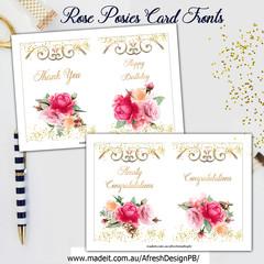 Rose Posies Card Fronts AfreshDesignPB
