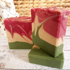 Coconut Milk Swirl - Handcrafted Natural Luxurious Soap - Vegan - Natural