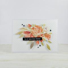 To My Beloved Friend, Friendship Card, Floral Bouquet