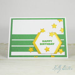 Green, White and Gold Birthday Card, Mens Card, Mens Birthday Card