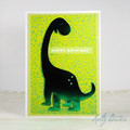 Dinosaur Birthday Card, Brontosaurus Card