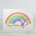 Happy Birthday Card, Alicorn, Flying Unicorn, Unicorn Birthday Card