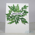 Just a Note, Friendship Card, Thinking of You Card