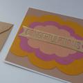 Congratulations Handmade Greeting Card / New Baby Card