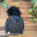 20% off - CHILDS SLOUCHY BEANIE/HAT with FAUX FUR POM - Girls/Boys/Child/Kids