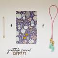 Gratitude Journal Gift Set, Personalised Gift, Lavender Floral