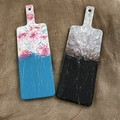 Decorative serving boards. Fluid acrylic painting, resin coated . Assorted sizes
