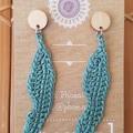 Gum Leaf Crochet Earrings