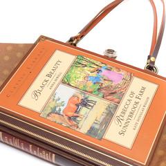 Black Beauty and Rebecca of Sunnybrook Farm Novel Bag - Bag made from a book