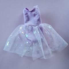 Barbie doll clothes - purple ballet dress