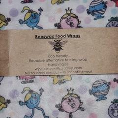 Beeswax Wraps Mr Men Little Miss Medium
