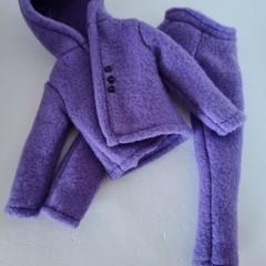 Barbie doll clothes - purple tracksuit set