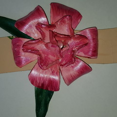 Leather flower design hair band/ hat band