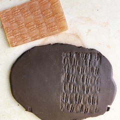 Texture Mat #1.  Rubber Texture mat for making impressions in clay.