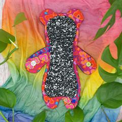 "8"" moderate cloth pad (Hybrid of appy Hippos Naomi's Kitty/Versodile Goldilocks)"