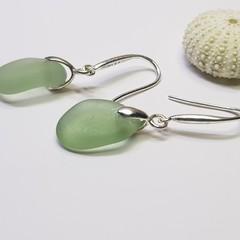 Seaglass  Earrings  - Sweet Mint