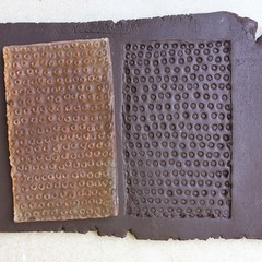 Texture Mat #2.  Rubber Texture mat for making impressions in clay