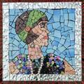 1920s Flapper Girl Mosaic.