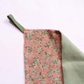 Pink Vintage Floral Linen Tea Towel