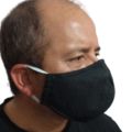 Charcoal black ombre face masks | non-medical, washable, reusable | made in Aust