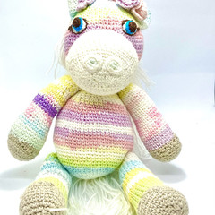 Amigurumi magical unicorn, kids toy, toddler toy, crochet toys, educational toy,