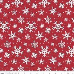 Holly Holiday Snowflakes Red