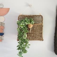 Hanging Seagrass Basket | Pom Pom & Beads