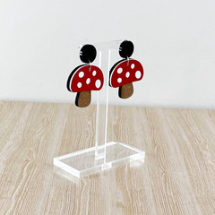 Earring stand in clear 3mm acrylic - small